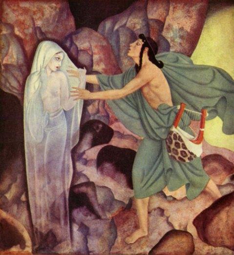 Orpheus and Eurydice, Edmund Dulac